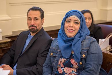 New citizens during the District of Maine's naturalization ceremony.