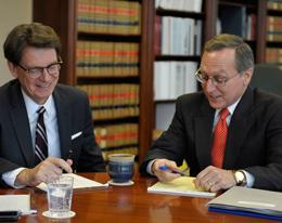 Judge Bates and Jim Duff working together