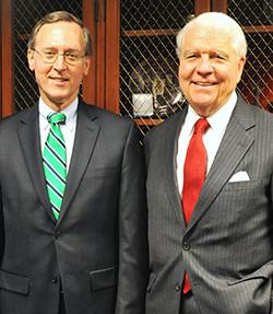 Judge John D. Bates, Director of the Administrative Office of the U.S. Courts, and his predecessor as Director of the AO, Judge Thomas F. Hogan