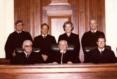 Image: Judge Susan Harrell Black, at her 1979 investiture in the Middle District of Florida.