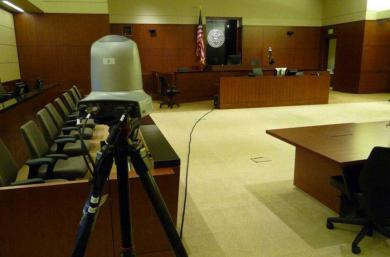 Fourteen district courts participate in a pilot project recording video of civil proceedings.