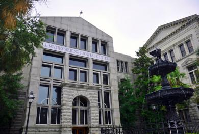 The newly renamed J. Waties Waring Judicial Center in Charleston, South Carolina.