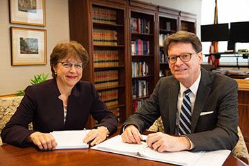 Deputy Director Jill Sayenga and Director James C. Duff