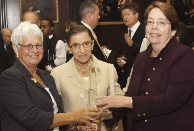 Image: Judge King with Justice Ruth Bader Ginsburg