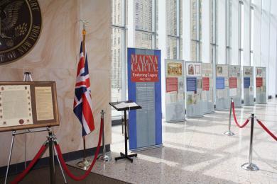 Image of Magna Carta Display at Robert H. Jackson Courthouse