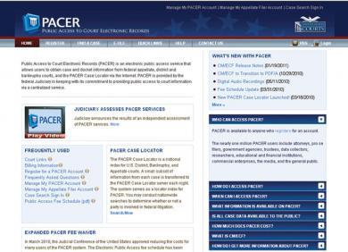 PACER website