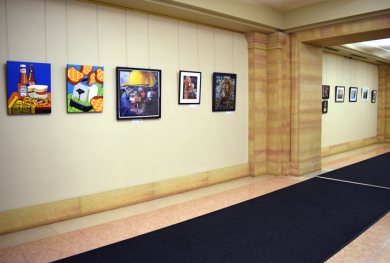 Art display at the District Court for the Western District of Pennsylvania.
