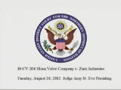 Sloan Valve Company vs. Zurn Industries (Part 1)