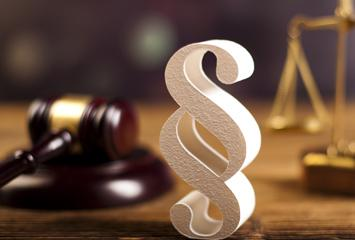 the key symbols of the Judiciary... the gavel, scales of justice, and code symbol.