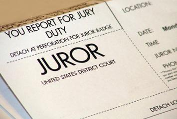 A jury service summons notice.