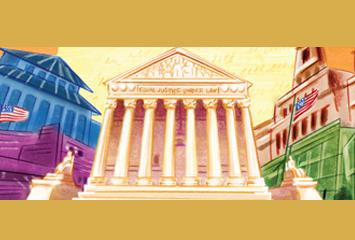 A concept drawing of the United States Supreme Court.