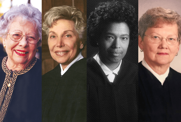 Image of four women judges appointed to the federal bench in 1979.