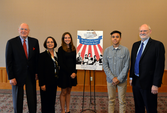 Judges with 9th Circuit Civics Contest winners