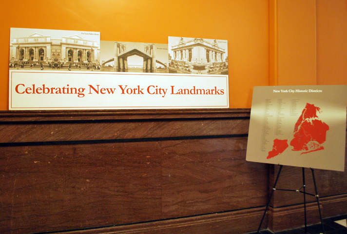 Photos of 95 New York City landmarks are on display at the historic Duberstein U.S. Bankruptcy Courthouse in Brooklyn.