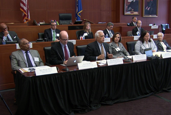 CJA panel listens to testimony.