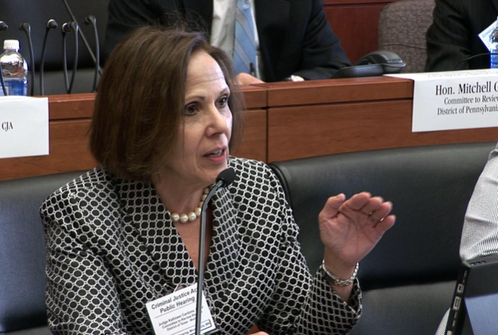 Judge Kathleen Cardone, of the Western District of Texas, who chairs the committee.
