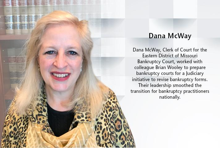 Dana McWay, clerk of court for the Missouri Eastern Bankruptcy Court.