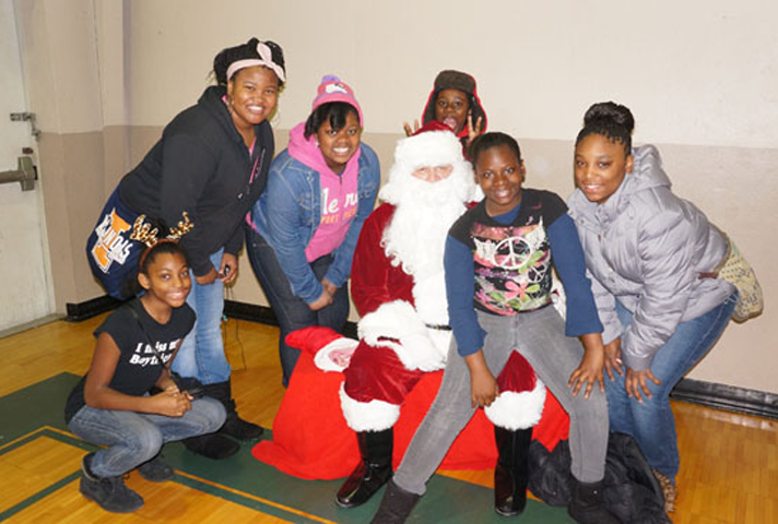 The district also hosts a yearly holiday party for children living in the projects of East St. Louis.
