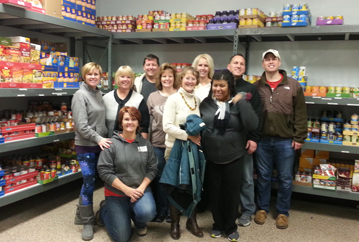 The Southern District of Illinois collects canned goods for the local food pantry.