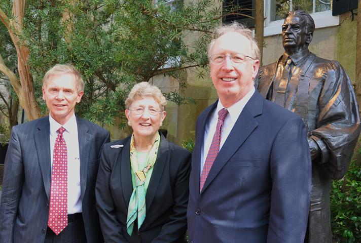 From left, Terry L. Wooten, chief judge of the U.S. District Court for the District of South Carolina; Jean Hoefer Toal, chief justice of the South Carolina Supreme Court; and William B. Traxler Jr., chief judge of the U.S. Court of Appeal for the Fourth