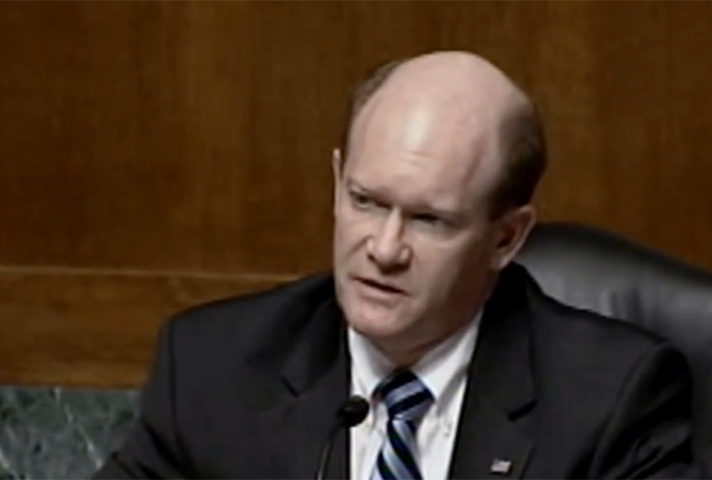 "Sen. Chris Coons: ""The sequester is slowing the pace, increasing the cost, and potentially eroding the quality of the delivery of justice."""
