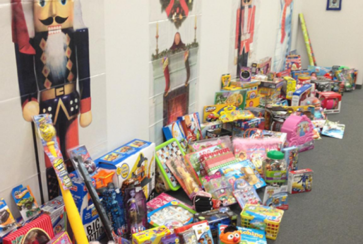 During the holidays, the New Jersey Probation Office collected toys for the Anna Sample House in Camden, NJ.