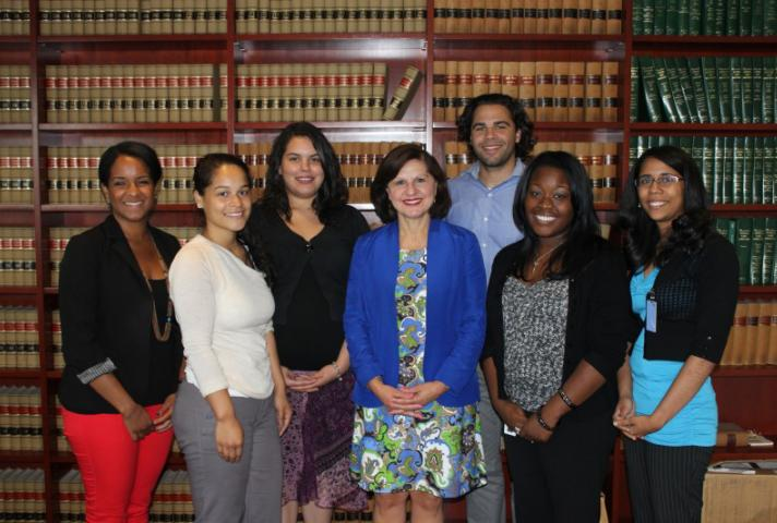 Lindsay Fellows visit with US Attorney Carmen Ortiz.