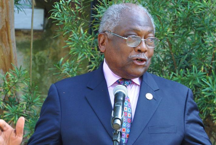 U.S. Rep. James E. Clyburn speaks at April 11 ceremony.
