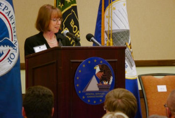 Ruth Cox at the John M. Roll U.S. Courthouse Dedication Ceremony