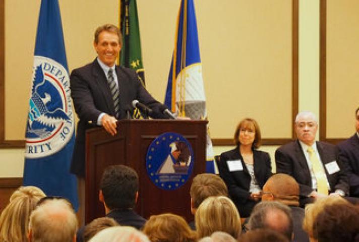 Senator Jeff Flake at the John M. Roll U.S. Courthouse Dedication Ceremony