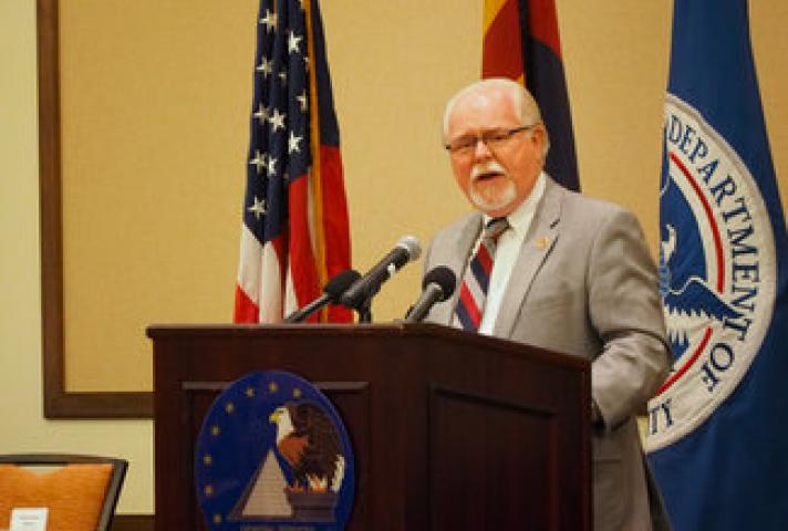 U.S. Rep. Ron Barber at the John M. Roll U.S. Courthouse Dedication Ceremony
