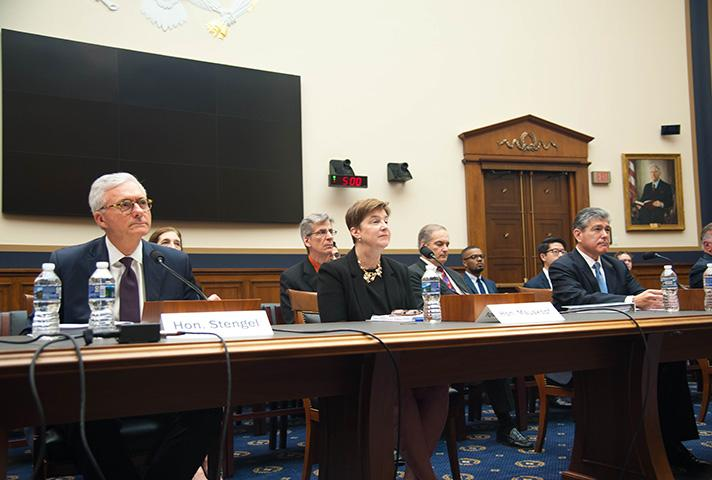 Judges testify at a House subcommittee hearing.