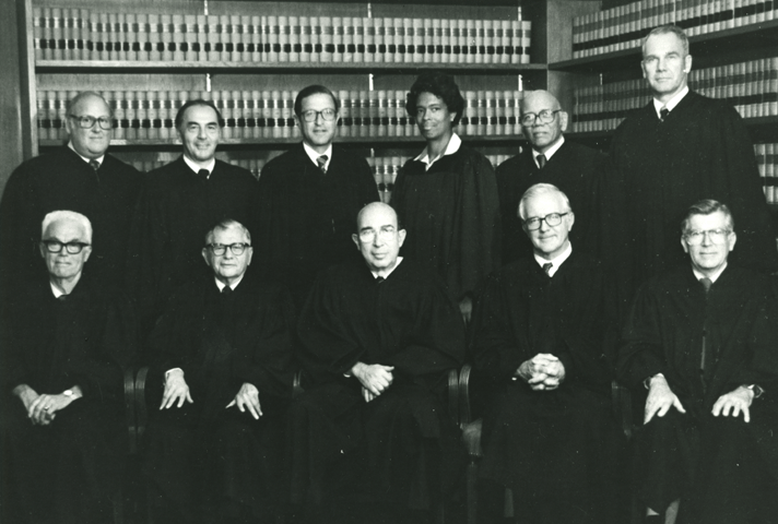 Image: Amalya Kearse, a judge with the Second Circuit Court of Appeals, is shown with colleagues in this 1982 photo.