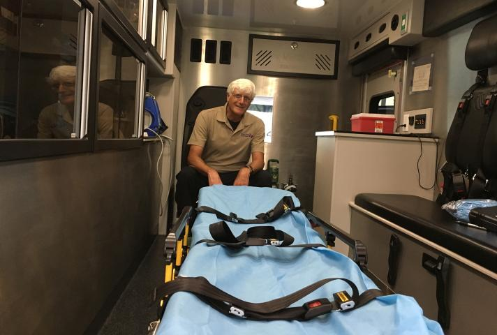 Don Bush, a retired federal magistrate judge, is now a paramedic.