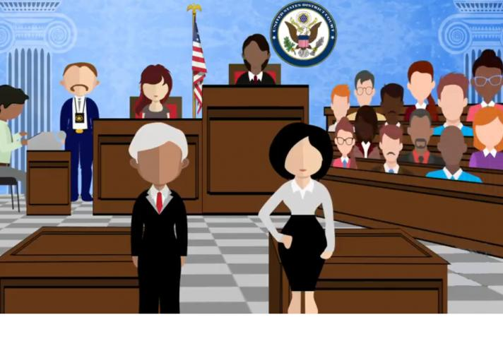 Image of courtroom.