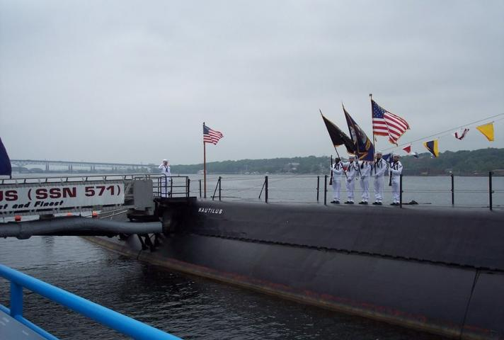 Some ceremonies have a theme, such as the one at the Submarine Force Museum in Groton, Conn., during Military Appreciation Month.