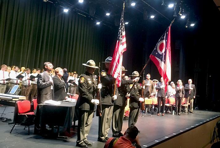Naturalization ceremony at Miami University of Ohio.