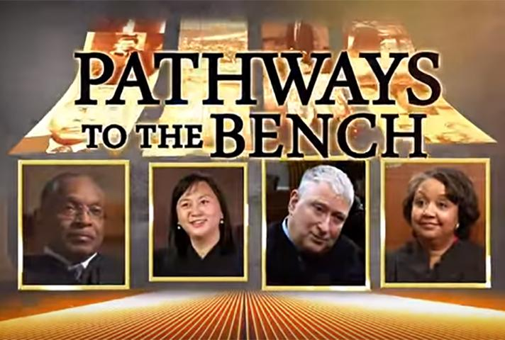 Graphic of judges featured in Pathways to the Bench series.