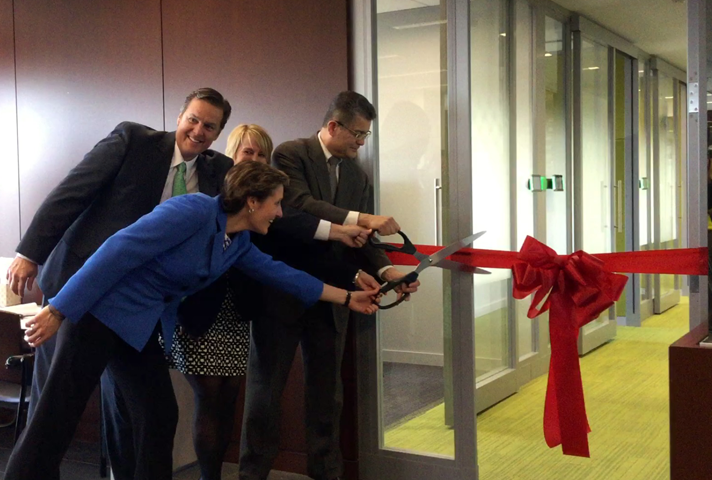 Ribbon cutting of probation office in Chicago, Illinois.