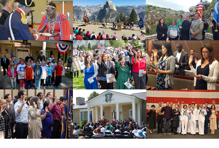 Collage of Constitution Day photos.
