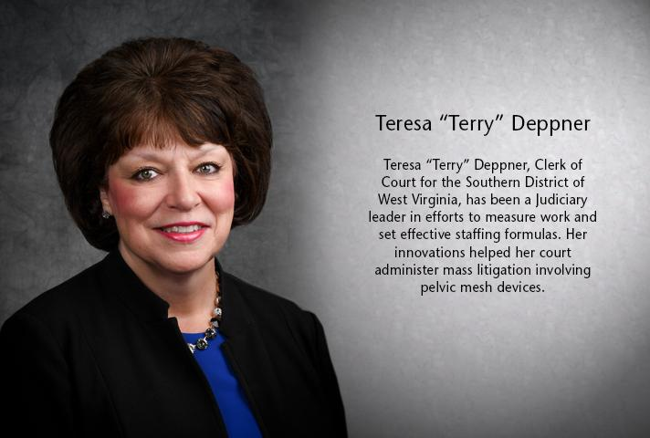 "Teresa ""Terry"" Deppner, clerk of court for the West Virginia Southern District."