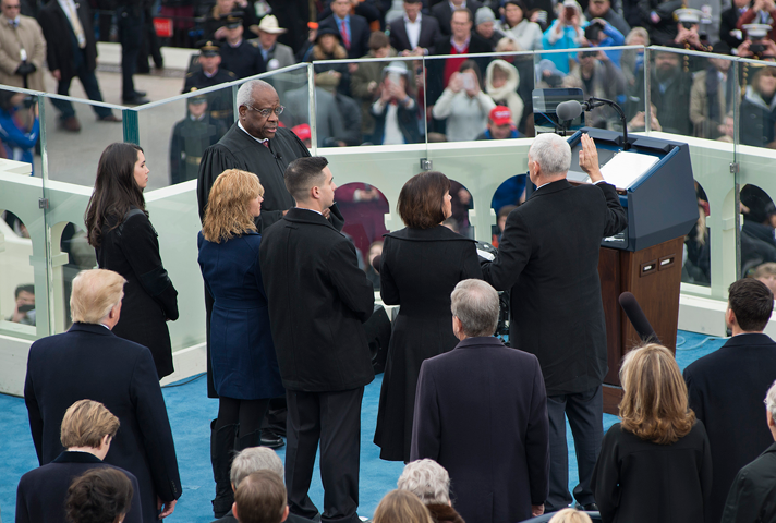 The Vice Presidential Oath of Office administered by Associate Justice Clarence Thomas.