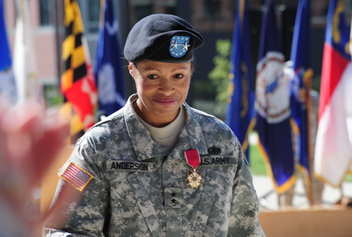 Image: Marcia Anderson, shown at her promotion ceremony, in 2011.