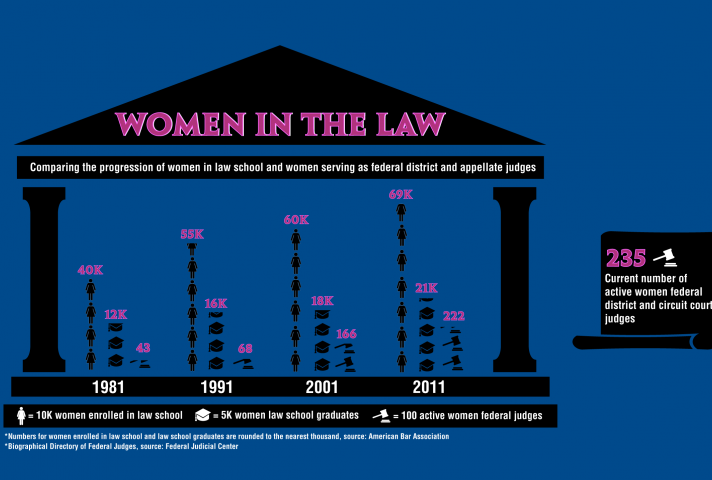 Women in the Law infographic