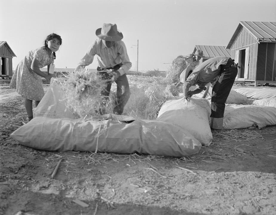 As recalled by Judge A. Wallace Tashima, internees at the Poston War Relocation Center created their own mattresses by stuffing bags with hay.