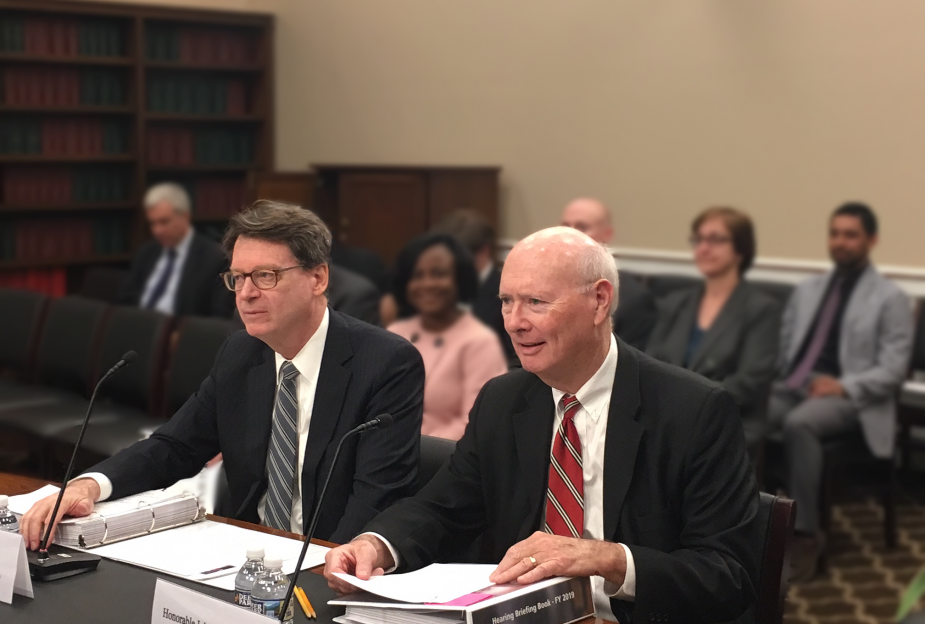 Director Duff at the Budget Hearing 2018