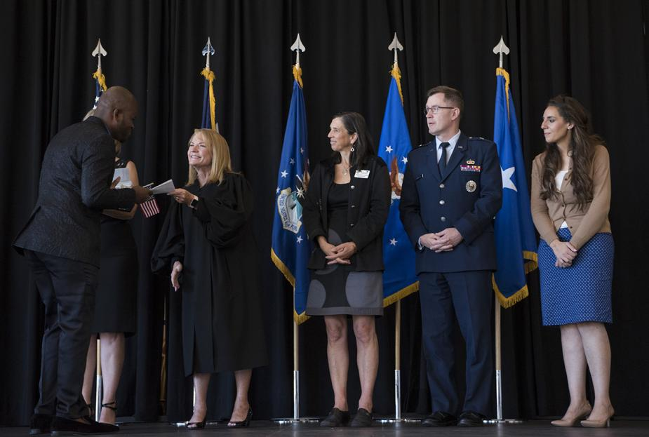 Naturalization ceremony at the U.S. Air Force Academy.