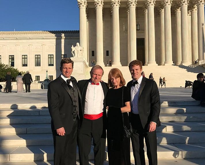 Fitzpatrick with his wife, Mary, and his two youngest sons, Brendan and Michael.