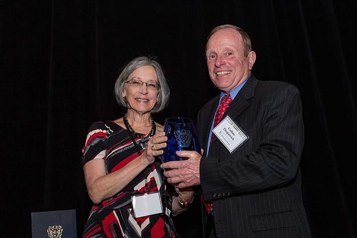 Fitzpatrick receives the American Inns of Court Award for the Seventh Circuit from then Chief Circuit Judge Diane Wood.