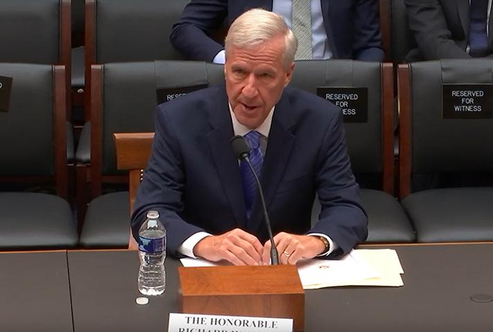 Judge Richard W. Story testifies before the House Subcommittee on Courts, Intellectual Property, and the Internet